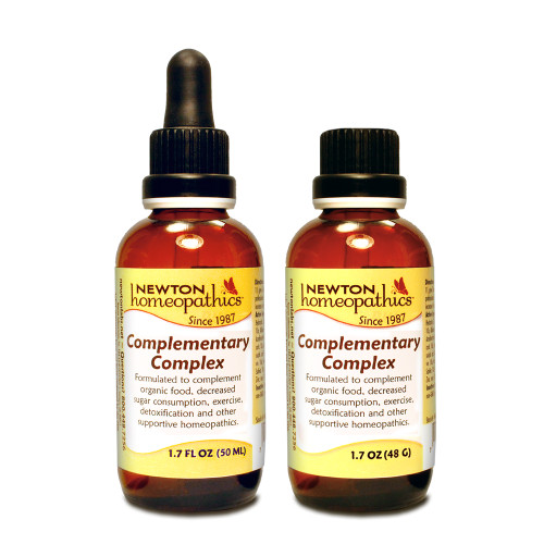 Newton Labs Complementary Complex 1oz or 1.7oz Liquid or Pellets,  immune system. A complement to organic food, decreased sugar consumption, exercise, detoxification and other supportive homeopathics.