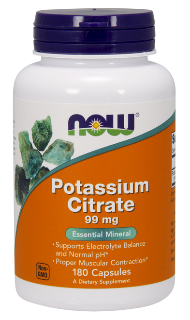 Now Foods Potassium Citrate 99 mg 180 Capsules #1448