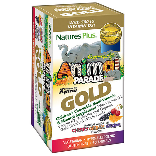 Nature's Plus Animal Parade GOLD  Children's 120 Chewable Multi Assorted Flavors #29928