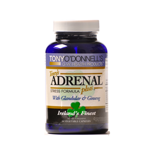 Dr. Tony's Adrenal Plus 60 Veggie Capsules, Dr. Tony's Adrenal Plus is a great supplement for those that are highly stressed! Our stress formula includes Glandular and Ginseng. Tony's Adrenal's balances hormone levels and reduces stress, while supporting an appropriate and healthy response to stress.