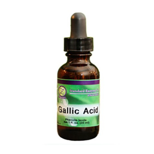 Standard Enzyme Gallic Acid 1oz, Supports: Gallic Acid sensitivities including back pain, hyperactivity, food cravings, nasal and sinus congestion, learning difficulties, rapid heart beat, and wheat allergy.