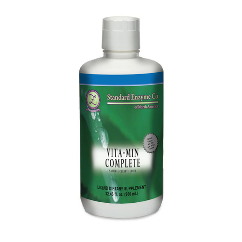Standard Enzyme Vita-Min Complete 32oz, Provides support for all major systems of the body. This liquid form allows for an absorption rate that is 10-12 times greater than supplements in tablet form.