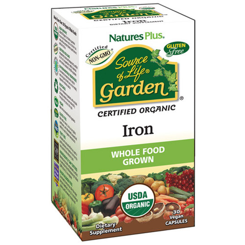 Nature's Plus Source of Life Garden Iron 30 Vegetarian Capsules