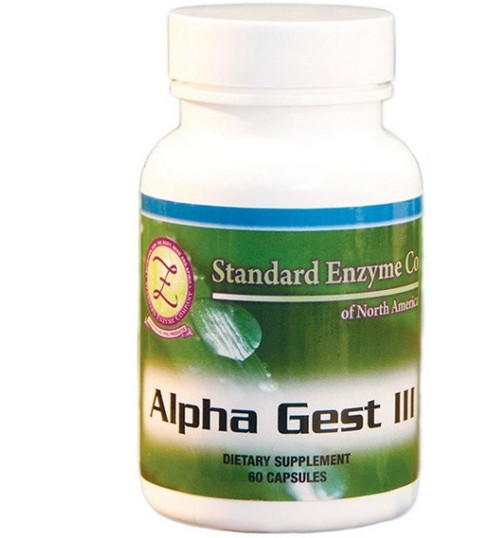 Standard Enzyme Alpha Gest III 120 Capsules, Supports digestion in the stomach and small intestine.