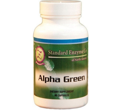 Standard Enzyme Alpha Green 90 Capsules, Supports: Green vegetable concentrate that helps support the stomach lining.