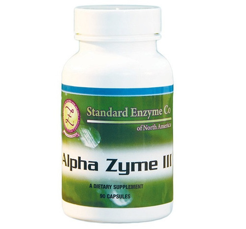 Standard Enzyme Alpha Zyme IIl 90 Capsules, Pancreatic enzymes with trace minerals and green vegetable concentrates.