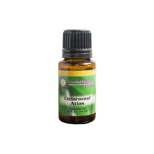 Standard Enzyme Cedarwood Atlas .5oz, wood, typically used to help with respiratory function, aid in grounding, improve vitality, promote healthy skin, topically, often used as a soothing massage oil.