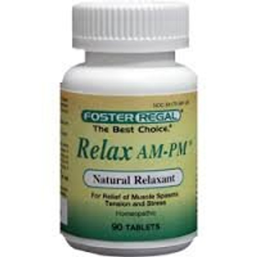 Foster Regal Relax AM-PM 90 Tabs, Leg Cramps, Restless Leg Syndrome FibroMyalgia, Low Back Pain, Muscle Pain, Back Sprain, Strain, PMS Menstrual Cramps, Pulled Muscles Neck, Shoulder Pain, Nervousness, Mild Insomnia