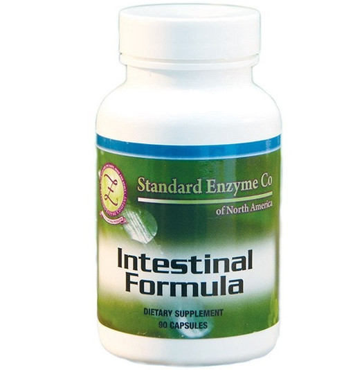 Standard Enzyme Intestinal Formula 90 Capsules, Provides support for the intestines. Helps with elimination.