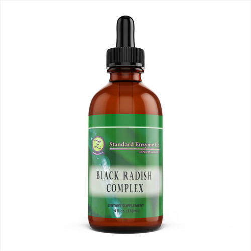 Standard Enzyme Black Radish Complex 4oz Liquid, Supports: Supports the ileocecal valve, gallbladder, liver, and the digestive system.