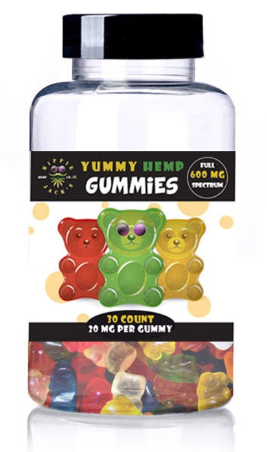 Hippie Jack's Yummy Hemp Gummies 30Ct. 20mg Per Gummy