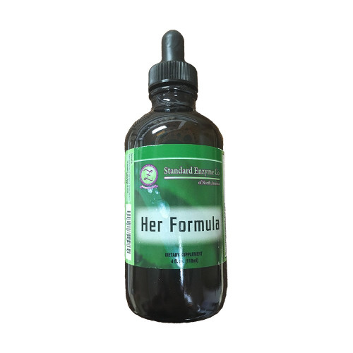 Standard Enzyme Her Formula 4oz, Supports: Used for potentially helping to balance the Endocrine System, boosting and helping to maintain mental and physical stamina, female hormone balance, and helping relieve menopausal symptoms.