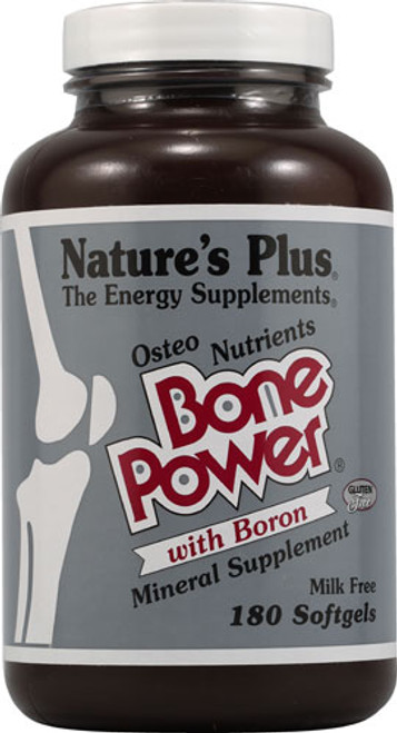 Nature's Plus Bone Power® Calcium with Boron 180Sgels #33410