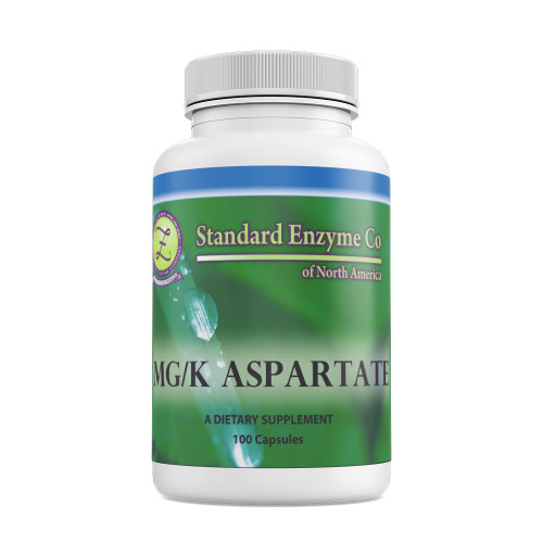 Standard Enzyme MG/K Aspartate 100 Capsules, Supports: Provides support for the autonomic nervous system, and adrenal glands. Good source of magnesium and potassium.