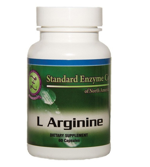 Standard Enzyme L-Arginine 60 Capsules, Supports: Provides support to the circulatory and immune systems.