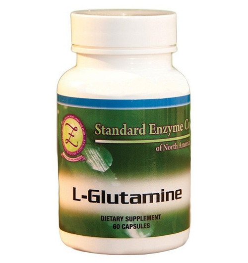 Standard Enzyme L-Glutamine 60 Capsules, Supports: Provides support for the muscles, intestines, and immune system.