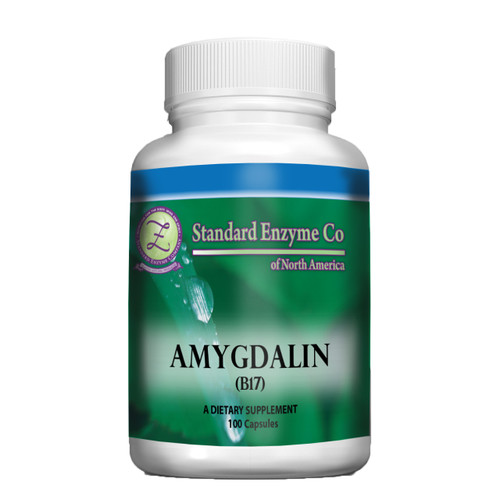 Standard Enzyme Amygdalin 100 Capsules, Supports: Provides support for the immune system, and may help with respiratory function, pain relief and fighting abnormal cell growth.
