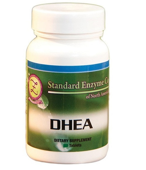 "Standard Enzyme DHEA 5mg, 100 Tablets or 25mg 60 Tablets, Supports: Is considered the ""Mother of all Hormones"". Provides support with weight loss."