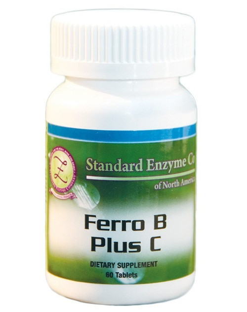 Standard Enzyme Ferro B Plus C 60 Capsules, Supports: Provides support for the muscular and nervous systems.