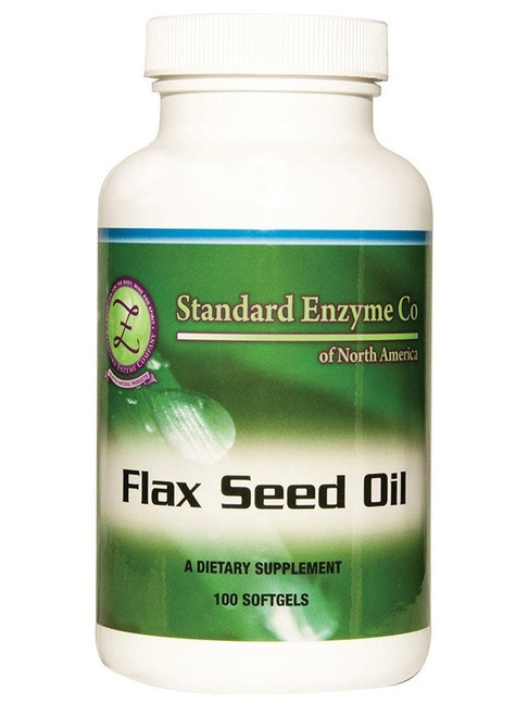 Standard Enzyme Flax Seed Oil 100 Softgels, Supports: Provides support for the body's metabolism and arteries.