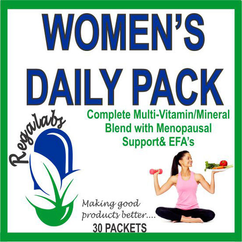 Regalabs Women's Daily Pack 30 Packets, Complete Vitamin/Mineral Blend with Menopausal Support and EFA's.
