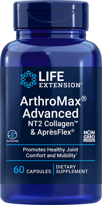 Life Extension ArthroMax Advanced with NT2 Collagen & ApresFlex 60 Capsules #02238