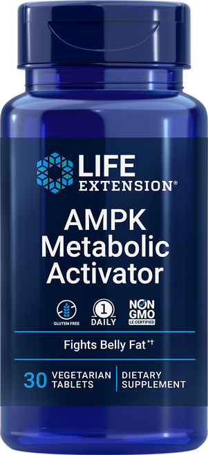Life Extension AMPK Metabolic Activator 30 Vegetarian Tablets #02207