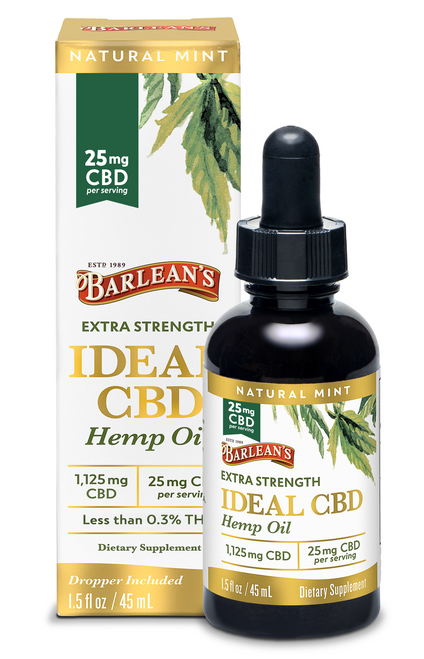 Barlean's Extra Strength Ideal 25mg CBD Hemp Oil 1.5oz