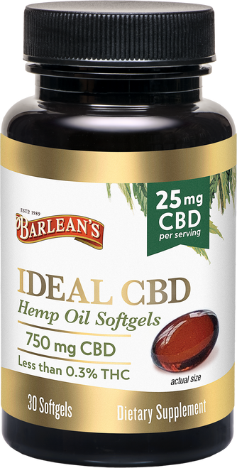 Barlean's Ideal CBD Hemp Oil Softgels 25mg