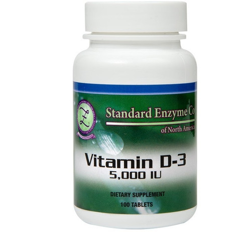 Standard Enzyme Vitamin D-3 100 Tablets