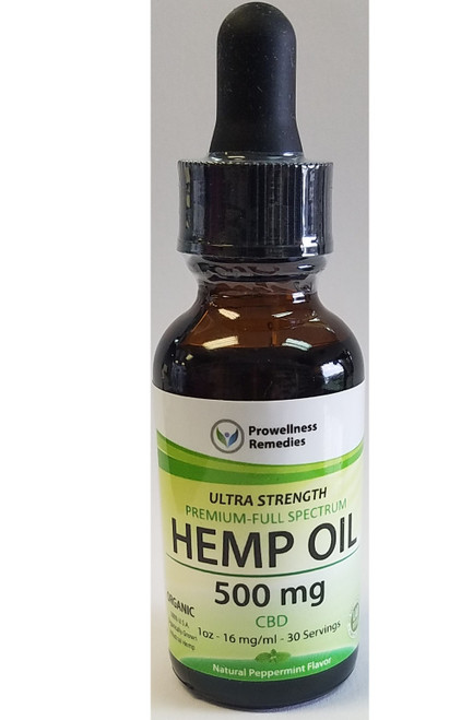 Prowellness Remedies Hemp Oil 500mg