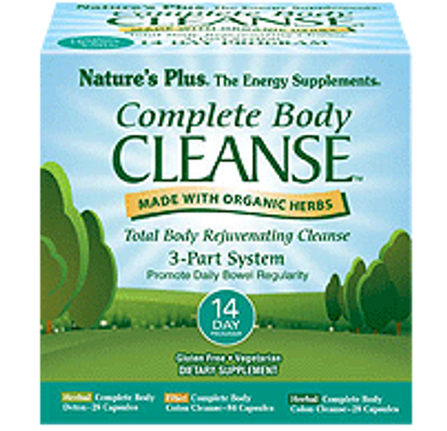Nature's Plus Complete Body Cleanse 3-Part System 14 Day Program #1114