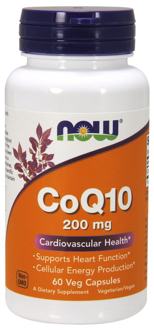 Now Foods CoQ10 200 mg 60 Vcaps #3176