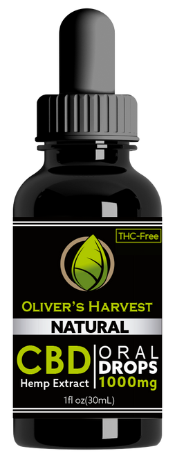 Oliver's Harvest Tincture Natural 1000 mg 1oz 30ml