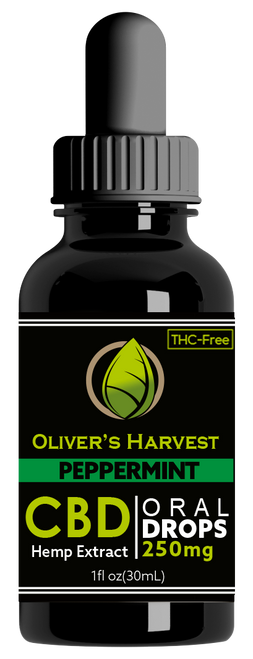 Oliver's Harvest Tincture Peppermint 250 mg 1oz 30ml