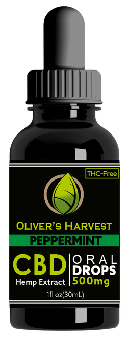 Oliver's Harvest Tincture Peppermint 500 mg 1oz 30ml
