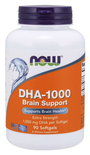 Now Foods DHA-1000 Brain Support, Extra Strength 90 Softgels