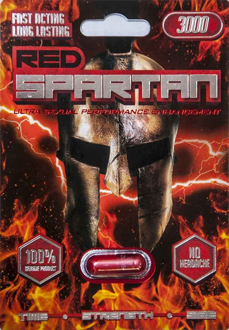 Red Spartan 3000 - Male Enhancement Sex Pill 1 Capsules