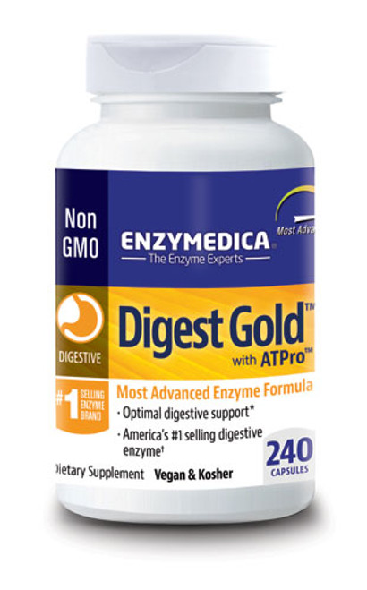 Enzymedica Digest Gold 45, 90, 120, 180 240 Capsules