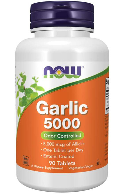 Now Foods Garlic 5000 90 Tablets #1814