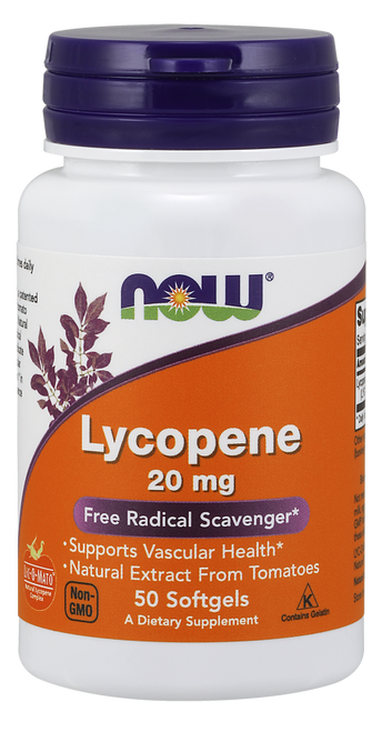 Now Foods Natural Lycopene 20mg 50 Softgels #3062