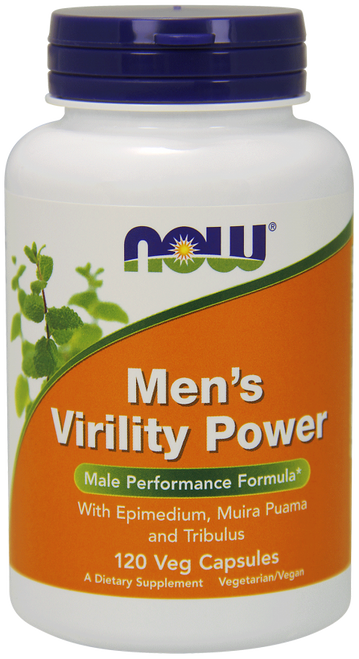 Now Foods Men's Virility Power 120 Capsules #3329