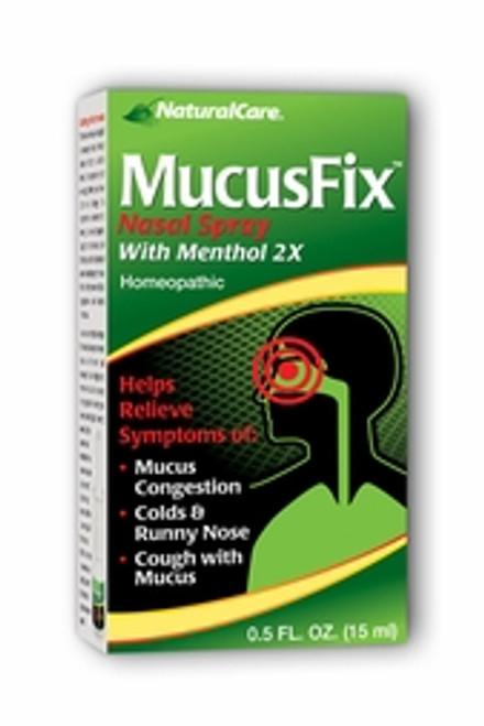 NaturalCare MucusFix Nasal Spray 0.5 oz 15ml #24321