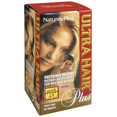 Nature's Plus Ultra Hair Plus Sustained Release 60 Tablets #4834