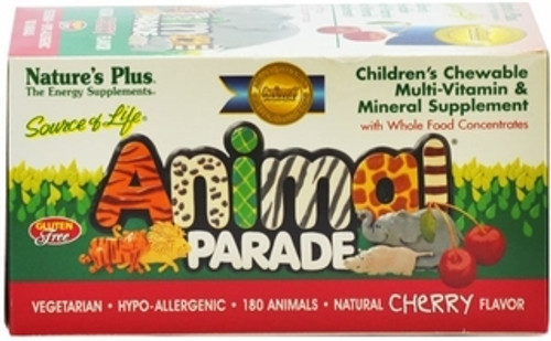 Nature's Plus Source of Life Animal Parade Cherry 180 Chewables #29972