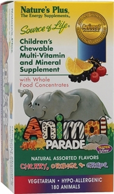 Nature's Plus Source of Life Animal Parade Assorted 180 Chewables #29982