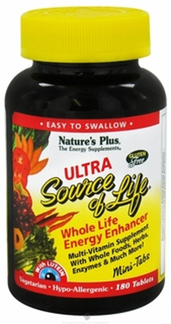 Nature's Plus Ultra Source of Life Mini 180 Tablets #30522