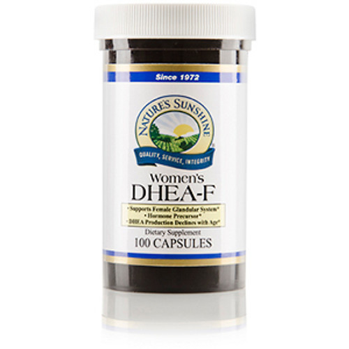 Nature's Sunshine DHEA-F For Women 100 Capsules #4202-2, Supports female glandular system, Hormone precursor, Supplements naturally-produced DHEA.
