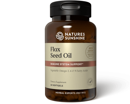 Nature's Sunshine Flax Seed Oil with Lignans 60 Capsules #1583