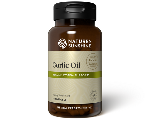 Nature's Sunshine Garlic Oil 60 Capsules #1694
